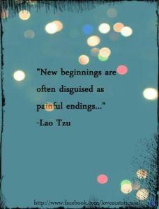 Endings Herald New Beginnings